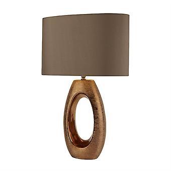Zoeklicht Artisan - 1 Licht Tafellamp Brons, Bruin, E27