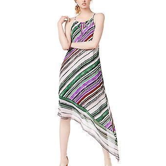 Bar III | Gypsy Floral Asymmetrical Halter Maxi Dress