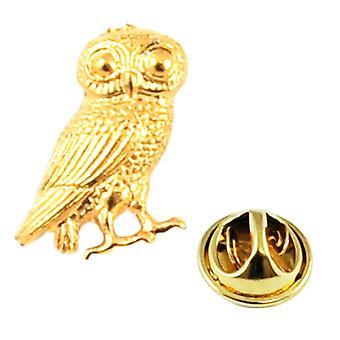 Ties Planet Golden Wise Gufo di Atena Risvegliare Pin Badge