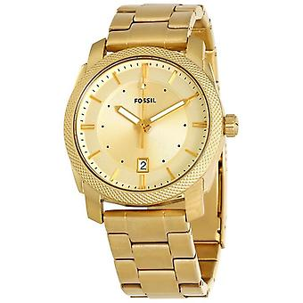 Fossil Machine Gold Dial Keltainen Kultasävy Men's Watch FS5264