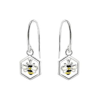 Dew Sterling Silver Dinky Bee And Combe Drop Earrings 5558ME028