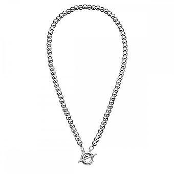 Beginnings Sterling Silver N3311 Multi Bead T Bar 46cm Necklace