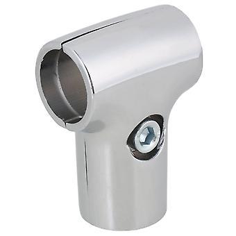 Polierte Tee-Anschluss für 25mm Aluminiumlegierung Rohr Regal Regal Diy