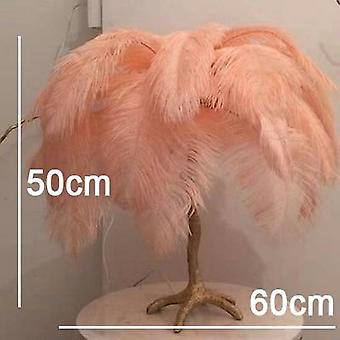 Modern Luxury Ostrich Feather Floor Lamp Nordic Decoration Home Copper Resin