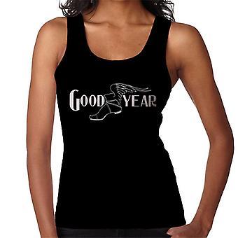 Goodyear svartvit logo Kvinnor's Väst