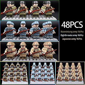 Ww2, Blöcke - Sowjetische Soldaten Russlands Truppen, Amerikanische Soldaten, Militär