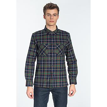 Merc EDWARDS, Men's Long Sleeve Flannel Check Shirt