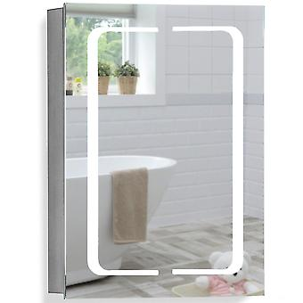 LED Bathroom Mirror Cabinet 70(H) x 50cm(W) x 15cm(D) C17