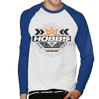 Nopea ja raivoisa Hobbs Aika mennä töihin Men's Baseball Pitkähihainen T-paita