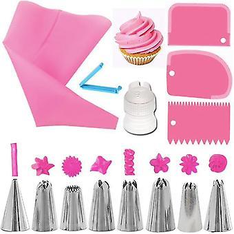 Tulle set - 14 pieces - Spirit bag, spritstyllar, dough scraper,