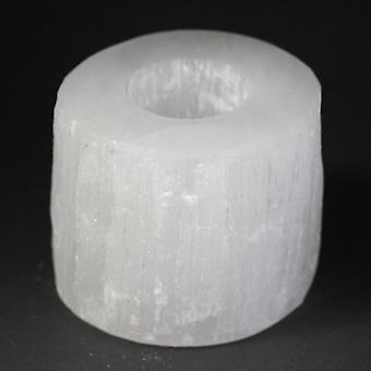 Selenite Cilinder Kaarshouder - 8 cm X 1