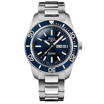 BALL Skindiver Heritage Automatic Blue Dial Zilver Roestvrij stalen armband Herenhorloge DM3308A-S1C-BE