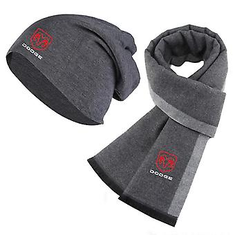 Winter Beanie Hat Dodge Car Logo Man Hat & Scarf