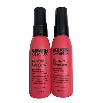 Keratin Kompleks Keratin Besatt Behandling Spray 1,7 oz Pakke med 2