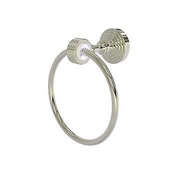 Pacific Grove Collection Towel Ring With Groovy Accents - Polished Nickel
