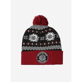 Supernatural Winchester Brothers Pom Beanie