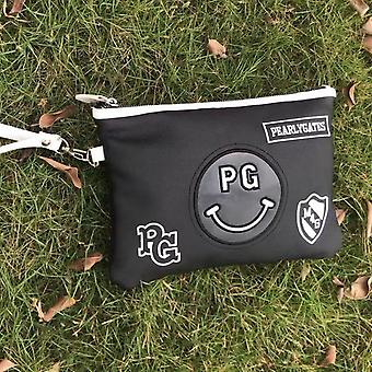 Portable Smiley Pg Golf Bag, Small Wallet Outdoor Sports Two Zipper Pockets