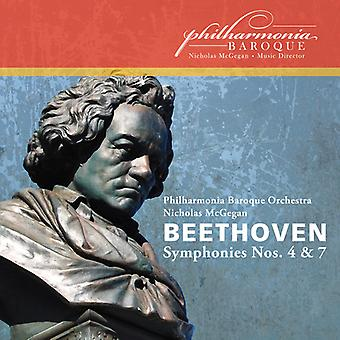 L.V. Beethoven - Beethoven: Symphonies Nos. 4 & 7 [CD] USA import