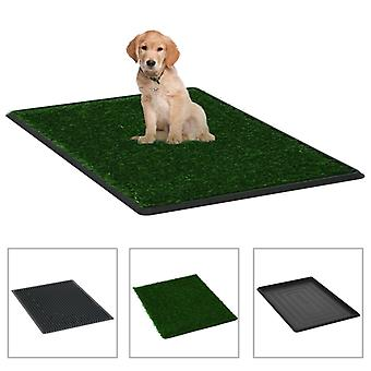 Pet toilet with tray and artificial grass green 76x51x3cm TOILET