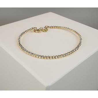 Golden Christian balls bracelet