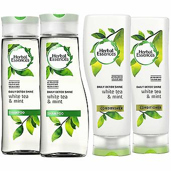 Herbal Essences Duo Detox Shine Shampoo And Conditioner 400ml Pack Of 2
