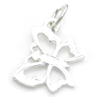 Butterfly Sterling Silver Charm .925 X 1 Butterflies Buterfly Charms - 396