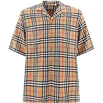 Burberry 8025821a7028re Men's Beige Cotton Shirt