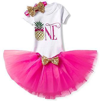 Lovely Girls Romper Skirt + Headband Outfit , Design 15