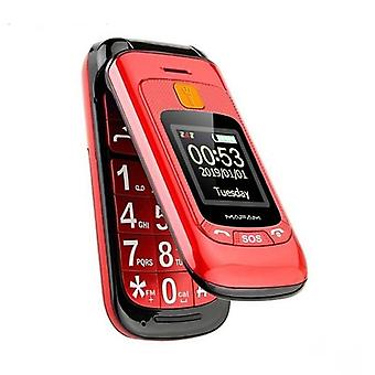 Elderly Mobile Phone Sos Help Two Display Fast Call Big Key Loud Speaker