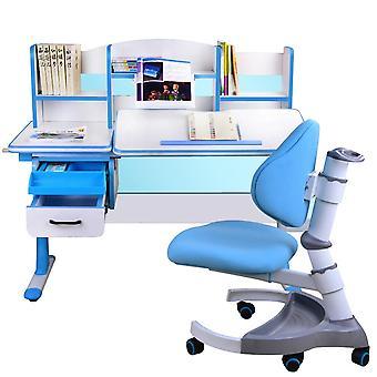 Děti studují psací stůl a židlicí oblek