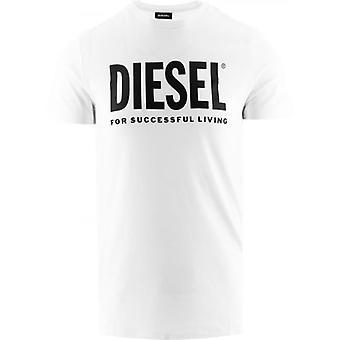 Diesel valkoinen Diego Print logo T-paita