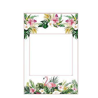 Liście kwiatów drukowane hawajski Photo Booth Selfie Frame 1 Kawałek