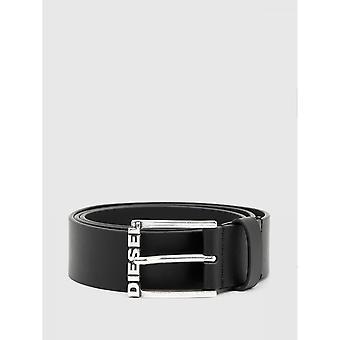 Leder Gürtel Schwarz Schnallen Logot e - Diesel