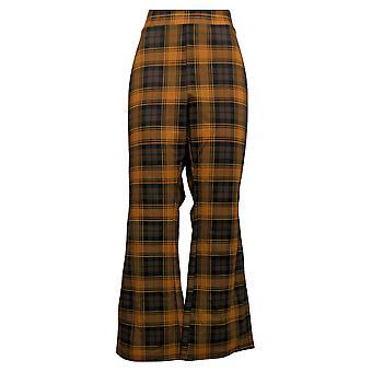 IMAN Global Chic Women's Petite Pants 360 Slim Ponte Boot-Cut Brown 722-484
