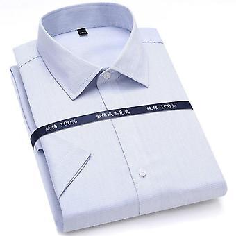 夏の非鉄純綿メンズフォーマルドレスシャツ