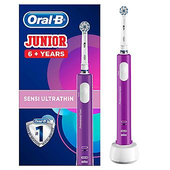 Oral-b junior kids electric rechargeable toothbrush for children age 6-12, 1 brush handle and 1 sens