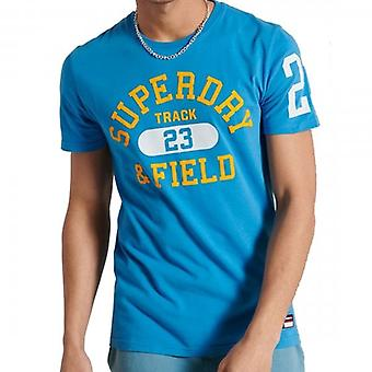 Superdry Track & Field Graphic T-Shirt Neptune Blue AKY