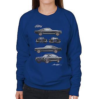 フォード マスタング マルチビュー ウィメンズ&アポス;s スウェットシャツ