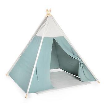 أصيلة Teepee لعب خيمة موسلين الأخضر