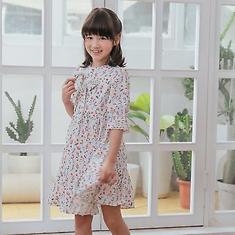 Floral-printed Chiffon Dress