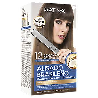 Kativa Brazilian Straightening Dark Hair 6 Einheiten