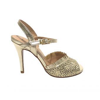 Sapatos femininos Sandalo Liu-jo April Tc 95 Wowen Light Gold Ds21lj25 Sa1013