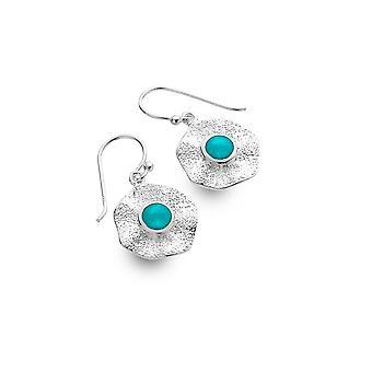 Sterling Silver Earrings - Origins Rock Pool + Turquoise