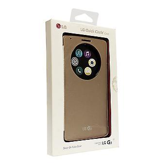 OEM LG Quick Circle Convenient Folio Case for LG G3 - Or