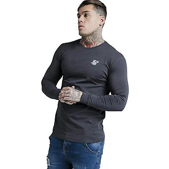 Sik Silk Long Sleeve Gym T-Shirt SS21 Navy 87