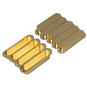9pcs 48/50/52mm Golden Closed Guitar Single Coil Pickup Cover cover