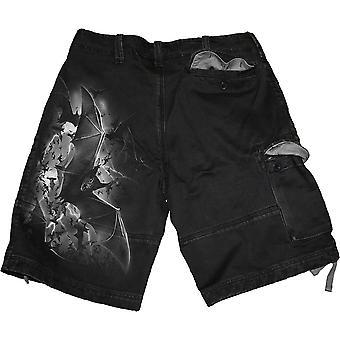 Bat Curse - Vintage Cargo Shorts Black