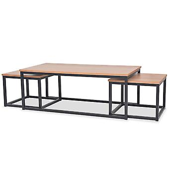 vidaXL Coffee table set 3pcs. ash wood