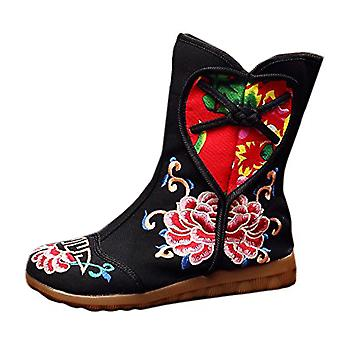 Old Beijing Cloth Embroidered Shoes Splicing