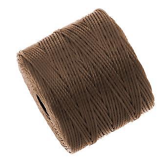 Super-Lon (S-Lon) -johto - #18 kierretty nailon - medium brown (77 jaardin kela)